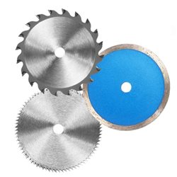 SET 6 DISCS FOR MINISEGA CIRCULAR EINHELL DIAMOND SAW BLADE, HSS AND HW