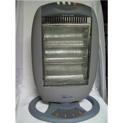 ELECTRIC HEATER HALOGEN 400/800/1200W 3 RADIATING ELEMENTS OSCILLATING