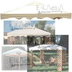 TARP TOP COVER FOR GAZEBO MAXIMA 3X4 400 GR PVC ECRU 50509 WATER-REPELLENT