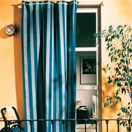 AWNING COTTON CM.140X250 COLOR BLUE / LIGHT BLUE FOR WINDOW BALCONY