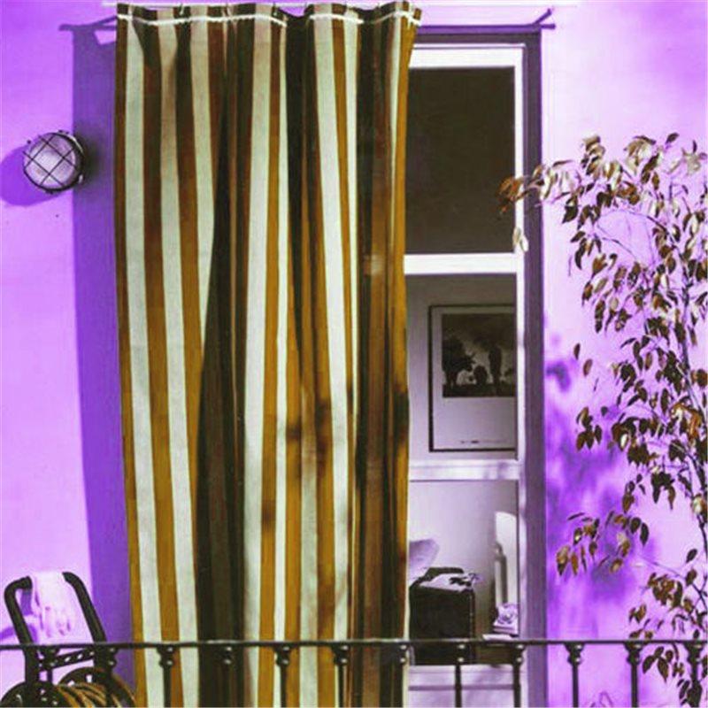 Tenda da sole cotone marrone beige per balcone - Tende porta esterno ...