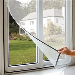 MOSQUITO NET POLYESTER STRAP WITH ADHESIVE FOR WINDOWS AGAINST INSECTS, MOSQUITOES