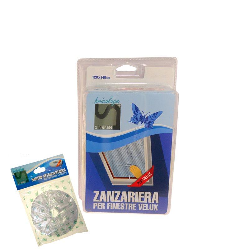Zanzariera per finestra velux 120x140 riducibile lucernaio - Zanzariera finestra fai da te ...