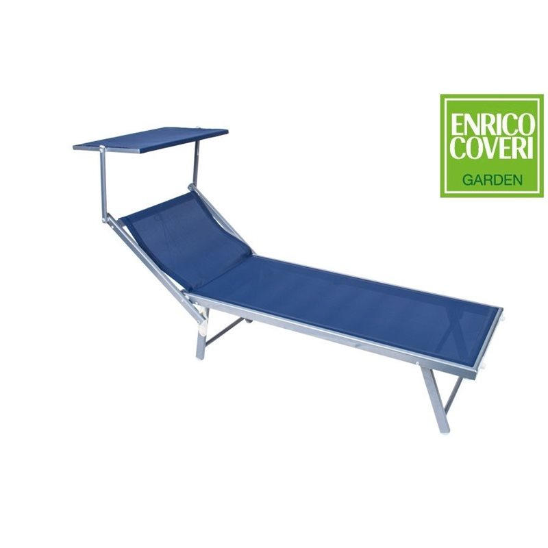 Lettino mare prendisole sdraio blu alluminio coveri - Lettino piscina alluminio ...