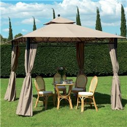 SET OF 4 SIDE CURTAINS FOR GAZEBOS EDEN MT.3X3 GARDEN