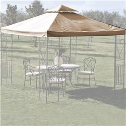 TARP TOP COVER FOR GAZEBO 3X3 ECRU 3133