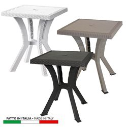 TABLE RIGOLETTO RATTAN SQUARE 60x60 COLORS: WHITE - COFFEE - TAUPE