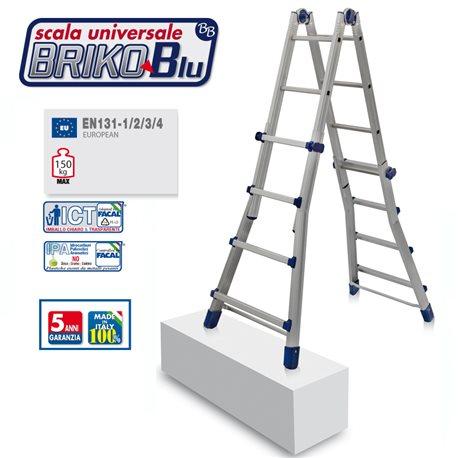 ALUMINIUM LADDER FACAL BRIKO BLUE BB2 4+4 STEPS