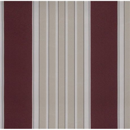 THE AWNING IN THE FALL, STRIPED BORDEAUX/CREAM