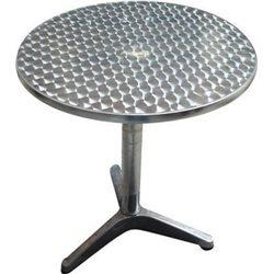TABLE ROUND ALUMINIUM BAR and RESTAURANT HOT TABLE D. 60 X 70H.