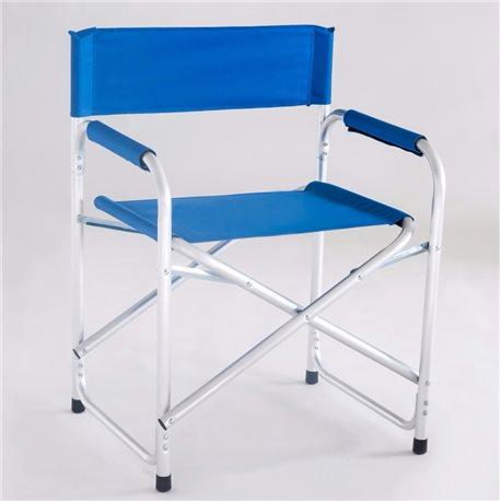 Sedie Da Mare Pieghevoli.Sedia Regista Alluminio Blu Da Mare Spiaggia Giardino Pieghevole Italy