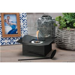 BIO-FIREPLACE BIOETHANOL FIREPLACE DESIGN MODERN FIREPLACE TABLE BLACK