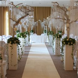 RUNNER GUIDE WHITE CARPET CHRISTMAS WEDDING CEREMONY EVENTS H. 1 MT.