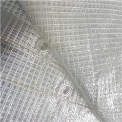 TELO OCCHIELLATO RETINATO ANTISTRAPPO IMPERMEABILE PVC PROTEZIONE ESTERNO 140GR.
