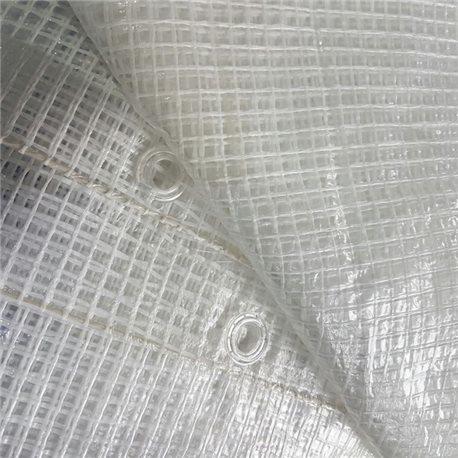 TELO OCCHIELLATO RETINATO ANTISTRAPPO IMPERMEABILE PVC PROTEZIONE ESTERNO 140GR/MQ.