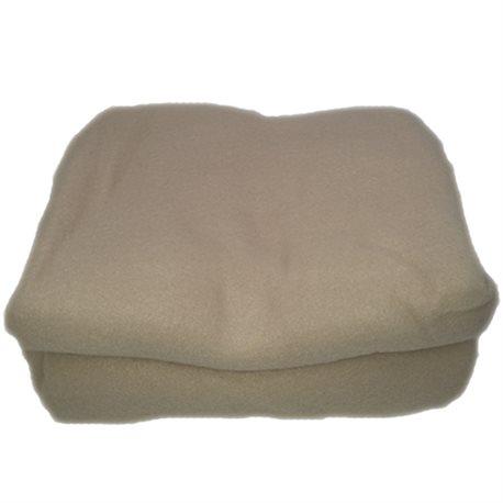 PLAID SCIALLE-PONCHO IN MORBIDO PILE CM.130X160 BEIGE