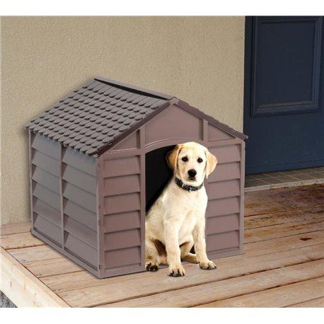 Cuccia per cane taglia grande in resina 71x71x68h marrone for Cucce da interno per cani taglia grande
