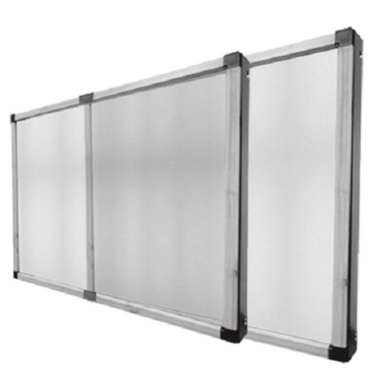 Zanzariera alluminio telaio estensibile con spazzolino - Telaio porta scorrevole ...