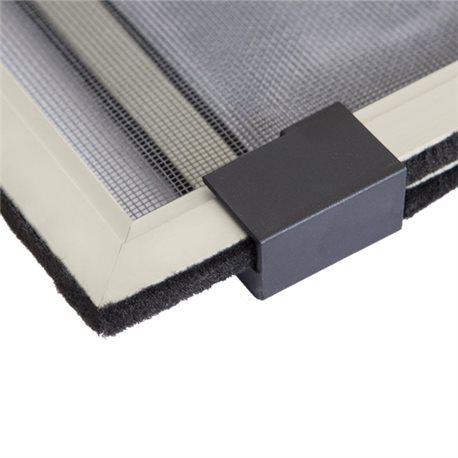 Zanzariera alluminio telaio estensibile con spazzolino - Porta finestra scorrevole prezzi ...