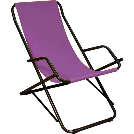 Dondolina Steel Deck Chair Purple Pool Terrace The Sea Garden