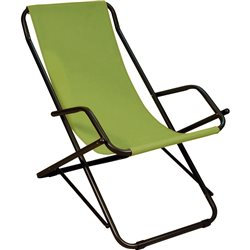 DONDOLINA STEEL Ø25 DECK CHAIR swimming POOL GREEN TERRACE SEA MADE IN ITALY