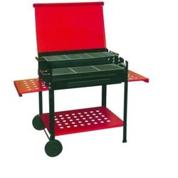 "BBQ BARBECUE CHARCOAL RECTANGULAR ""ETNA"" CM.80X60 -WROUGHT-IRON -ELA"
