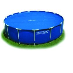 INTEX 29020 -BATH THERMAL POOL COVER ROUND WITH FRAME, BEARINGS, Ø CM.244