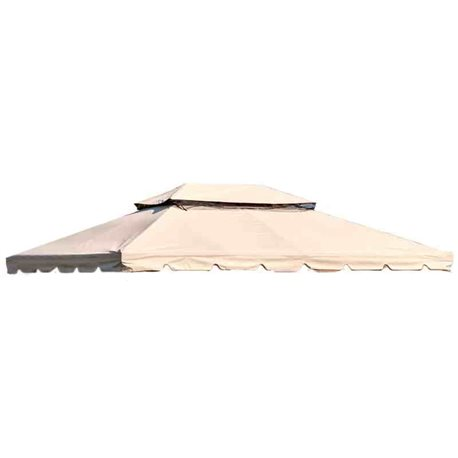 TOP TELO PER GAZEBO ADVENTURE MT.3X4 SPALMATO PVC COLORE ECRU' CON DOPPIO TETTO 39929