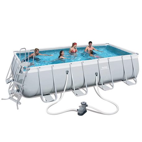 PISCINA BESTWAY 56465 RETTANGOLARE POWER STEEL CM.549x274x122H