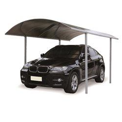 pensilina tettoia policarbonato alveolare fume' carport auto garage alluminio misura 5x2x265