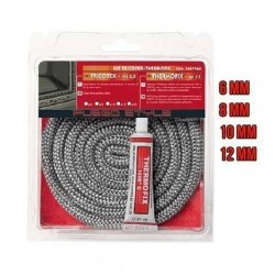 GASKET BRAID THERMAL KIT TRICOTEX + ADHESIVE FOR STOVES, FIREPLACES, BOILERS