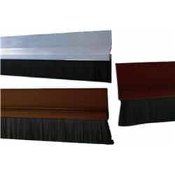 WEATHER STRIP DOOR WEATHERSTRIP ALUMINUM SILL WITH BRUSH CM.100X5H SILVER