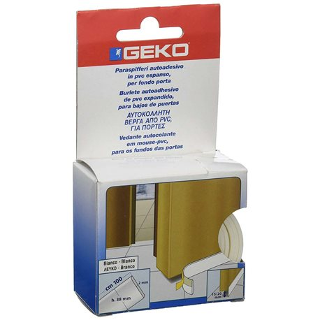 DOOR WEATHERSTRIP ADHESIVE PVC WATERFOAM CM.3,8X100 BROWN GEKO