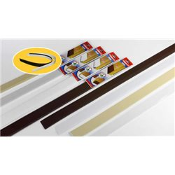 DOOR WEATHERSTRIP WEATHER STRIP, FLEXIBLE PVC DOOR WITH A BROWN FELT CM.100