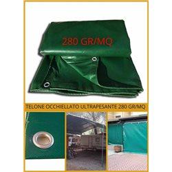 TELO TELONE OCCHIELLATO IN PVC 280 GR/MQ IMPERMEABILE ULTRA RESISTENTE