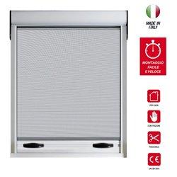 Zanzariera a Rullo SPECIAL frizionata in alluminio riducibile per finestre in KIT