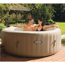 Swimming POOL hot TUB PURESPA INTEX CM 196 H. CM 71 FILTER-LT/H 1.741 + HEATER