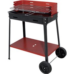 BARBECUE CHARCOAL FLAVIA WITH WHEELS CM 60X35 H. 80 CM