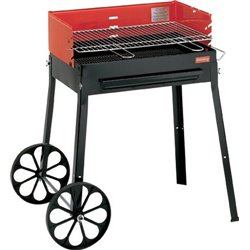 BARBECUE CHARCOAL TRIBES WITH WHEELS FERRABOLI CM 67X56 H. CM 86