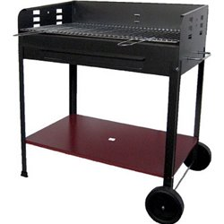 BARBECUE CHARCOAL ETNA WITH WHEELS CM 80X50 H. 90 CM
