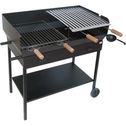 BARBECUE CHARCOAL/WOOD-burning PARTY CRUCCOLINI CM 51X97 H. CM 92