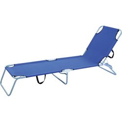 COT EVIL' DOMUS STAINLESS STEEL/POLY BLUE CM.58X190 H. CM.27