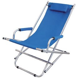 DECK CHAIRS TO RELAX DOMUS ALUMINUM/POLY BLUE CM.99X60 H. CM.73