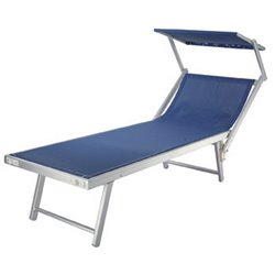 BED MALIBU' POOL DOMUS STAINLESS STEEL/TEXT BLUE CM.61X189 H. CM.39