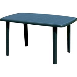 TABLE CAYMAN BICA PP GREEN CM 140X90 H. 72 CM