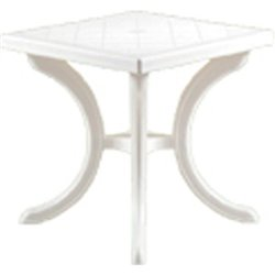 TABLE MONOPOLI BICA PP WHITE CM 80X80 H. 72 CM