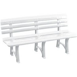 The BENCH OLIMPIA BICA PP WHITE CM 150X53 H. CM 77
