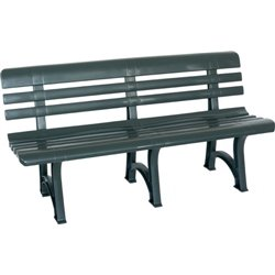 The BENCH OLIMPIA BICA PP CM GREEN 150X53 H. CM 77