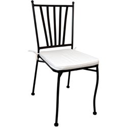 CHAIR MINOR DOMUS STAINLESS VERN CM 41X51 H. 90 CM WITH CUSHION