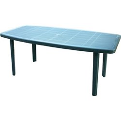 TABLE OCEAN BICA PP GREEN CM 180X90 H. 72 CM
